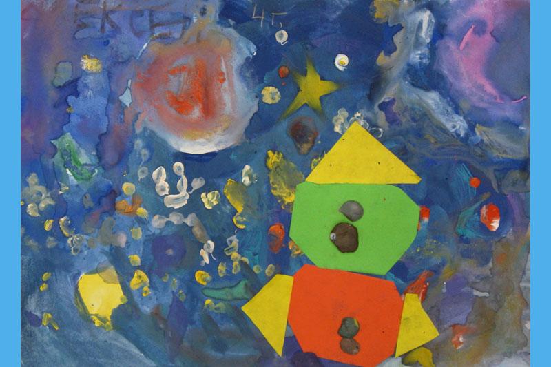 Рисунки детей тема космос часть 4